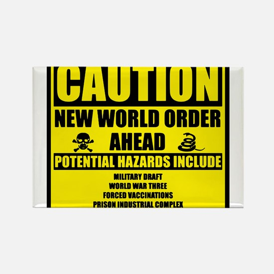 Cute New world order Rectangle Magnet