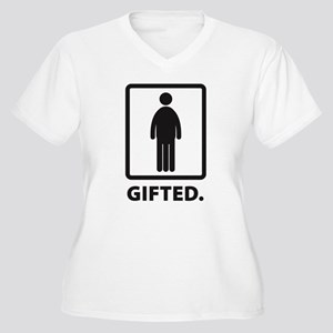Gifted Women's Plus Size V-Neck T-Shirt