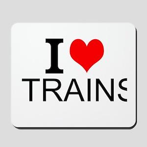 I Love Trains Mousepad