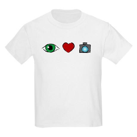 WTD: I Love Photography Kids Light T-Shirt