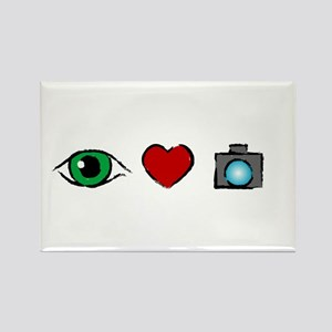 WTD: I Love Photography Rectangle Magnet