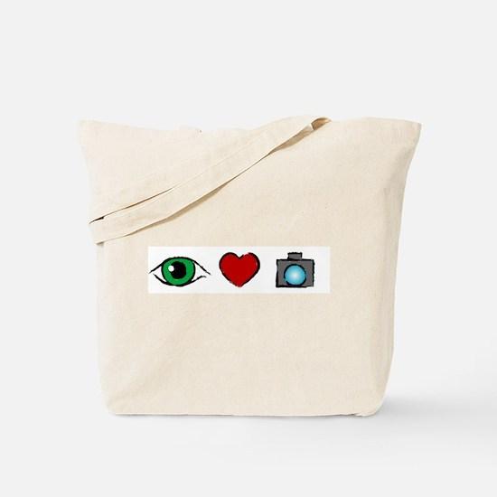 WTD: I Love Photography Tote Bag