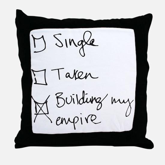 Funny Empire Throw Pillow