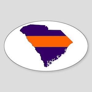 South Carolina Map Oval Sticker