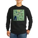 superhero Long Sleeve Dark T-Shirt