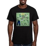 superhero Men's Fitted T-Shirt (dark)