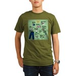 superhero Organic Men's T-Shirt (dark)