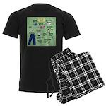 superhero Men's Dark Pajamas