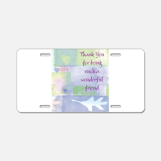 Friend101.jpg Aluminum License Plate
