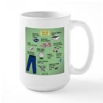 superhero 15 oz Ceramic Large Mug