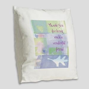 Friend101 Burlap Throw Pillow