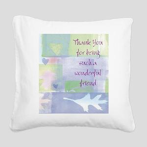 Friend101 Square Canvas Pillow