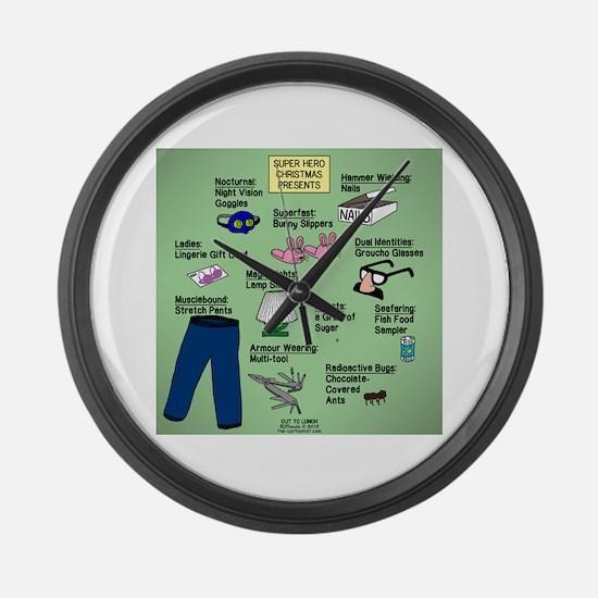 superhero Large Wall Clock