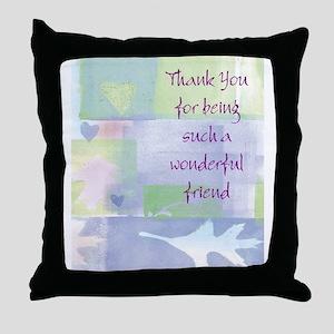 Friend101 Throw Pillow