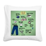 superhero Square Canvas Pillow