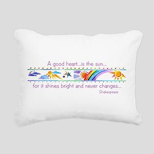 A good heart Rectangular Canvas Pillow
