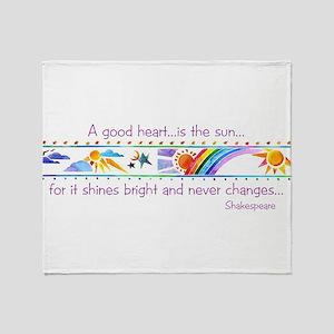 A good heart Throw Blanket