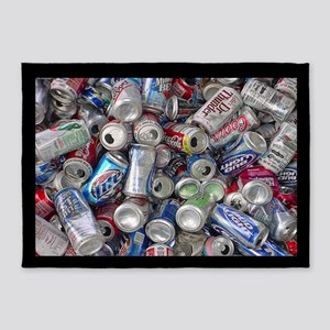 Empty Beer and Soda Cans 5'x7'Area Rug