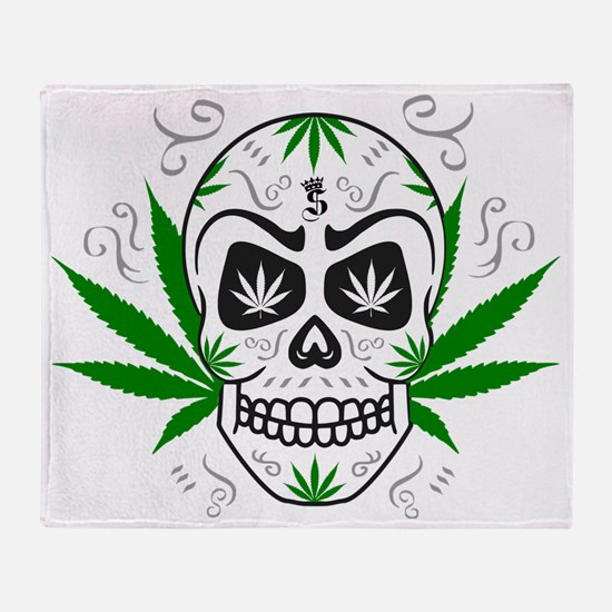 Cool Weed Throw Blanket