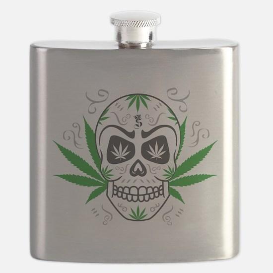 Funny Dia de los muertos Flask
