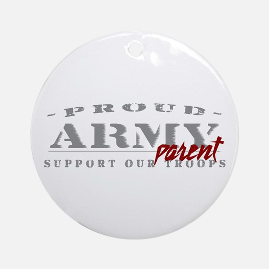 Proud Army Parent (red) Ornament (Round)