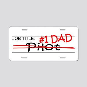 Job Dad Pilot Aluminum License Plate