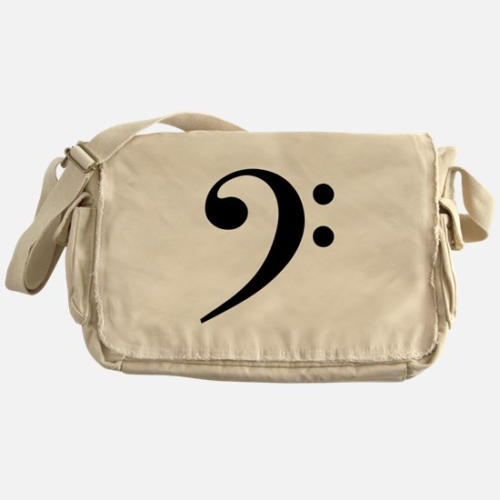 Bass Clef Messenger Bag