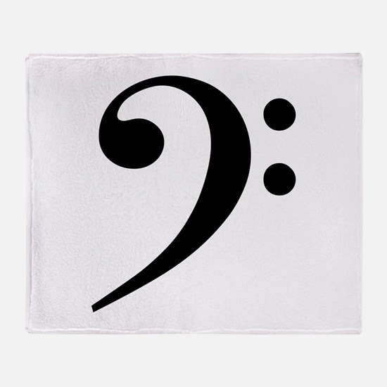 Bass Clef Throw Blanket