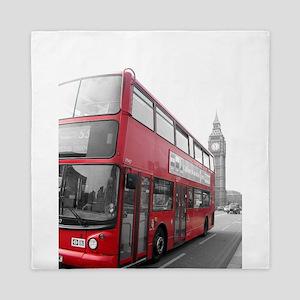 London Red Bus 2 Queen Duvet