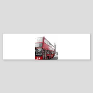 London Red Bus 2 Bumper Sticker