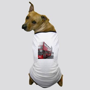 London Red Bus 2 Dog T-Shirt