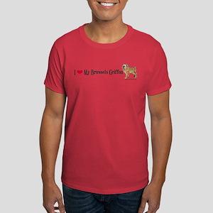 Brussels Griffon Heart Dark T-Shirt