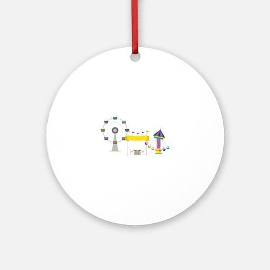 Amusement Park Ornament (Round)