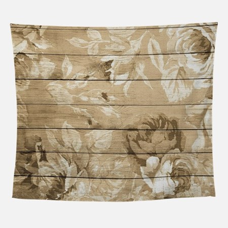 Rustic Vintage Country Floral Wood