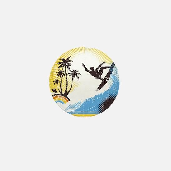 Retro Surfer Mini Button