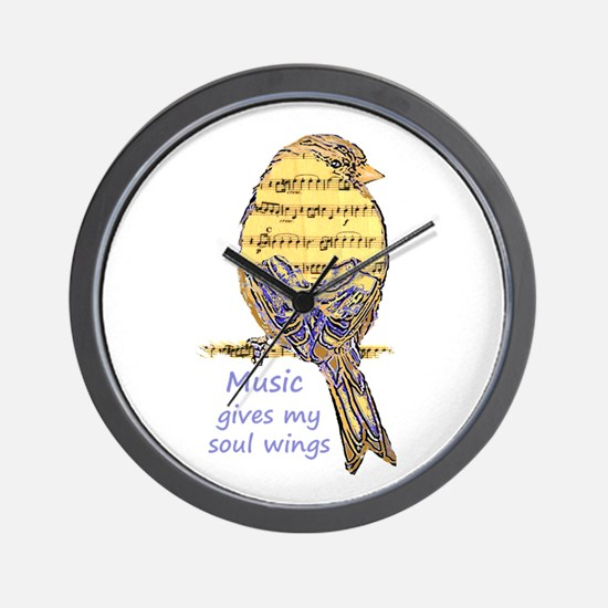 Music Gives my Soul Wings Wall Clock