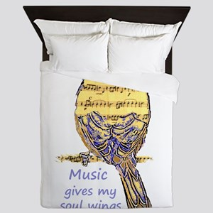 Music Gives my Soul Wings Queen Duvet