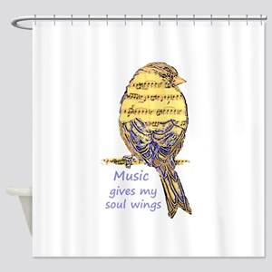 Music Gives my Soul Wings Shower Curtain