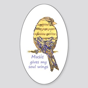 Music Gives My Soul Wings Sticker