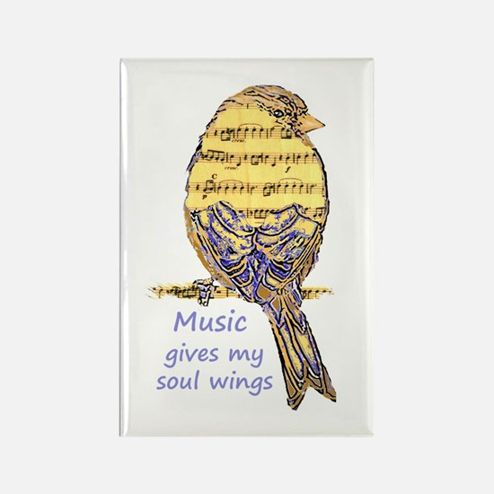 Music Gives My Soul Wings Magnets