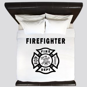 Firefighter Fire Dept King Duvet