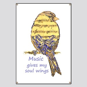 Music Gives My Soul Wings Banner