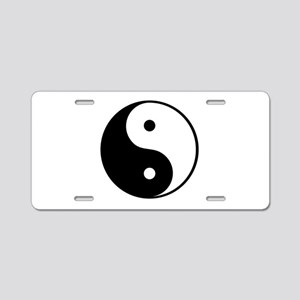 Yin and Yang Aluminum License Plate