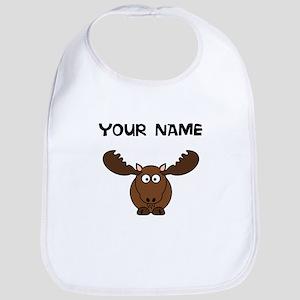 Custom Cartoon Moose Bib
