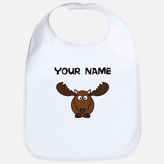 Custom Cartoon Moose Bib