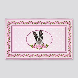 Boston pink roses 3'x5' Area Rug