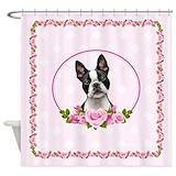 Boston terrier Shower Curtains