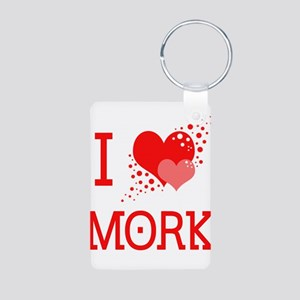 I Heart Mork Aluminum Photo Keychain