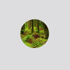 Ferns in the forest Mini Button