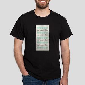Cute Mint Floral Dark T-Shirt